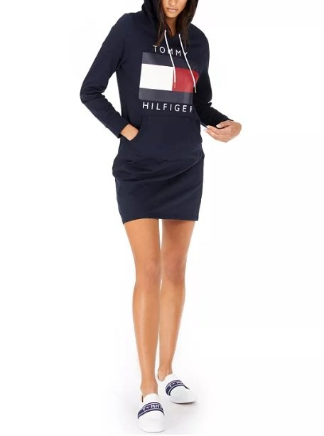 TH Tommy Hilfiger 湯米 國旗標誌 連帽 裙子 連身裙 現貨