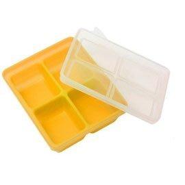 【魔法世界】韓國 Mathos Loreley 矽膠副食品分裝盒XL 70g/4格 芥末黃