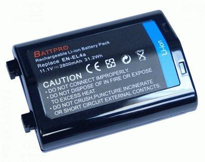 ENEL4 EN-EL4 EN-EL4a EN-EL4e電池合Nikon D3多款相機看內容 BattPro一年保用
