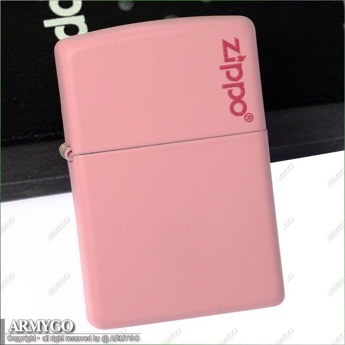 【ARMYGO】ZIPPO原廠打火機-粉紅色拷漆-NO.238ZL