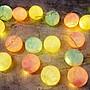 (缺貨)裝飾燈串_暖彩圓球20顆(電池)2米_B10...
