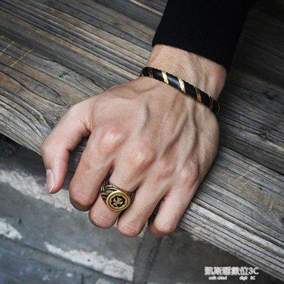 戒指古風高橋印第安風太陽飛鷹圖騰戒指 鈦鋼情侶對戒復古男女創意戒指環