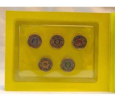 [現貨] [免運] 澳洲 澳大利亞 2016奧林匹克 限量奧運紀念幣 彩色五環 OLYMPIC 一套五個 收藏用途