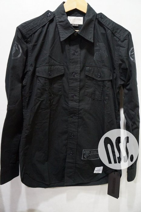 特價「NSS』NEIGHBORHOOD OFFICER C-SHIRT LS 軍事 長袖 襯衫 黑 M L