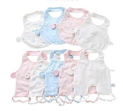 ZIHOPE 嬰兒肚兜 薄款寶寶紗布純棉新生嬰幼兒衣服夏裝連腳60支高密ZI812