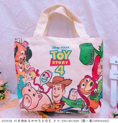 【傳說企業社】日本直送 正版授權 玩具總動員4 帆布手提袋 收納袋 置物袋 手提包