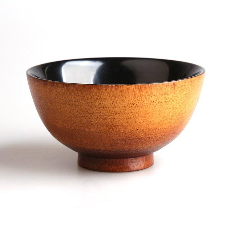 ₴金凱悅㍐大漆碗魚籽紋竹碗 日式禪意漆藝天然碗碟套裝家用茶道零配