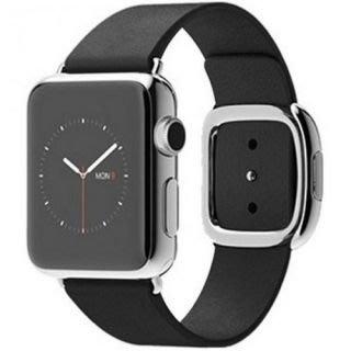 Apple Watch Series 1 38mm 不銹鋼+黑色時尚圈扣 MJYL2 Black Modern Buckle 全新