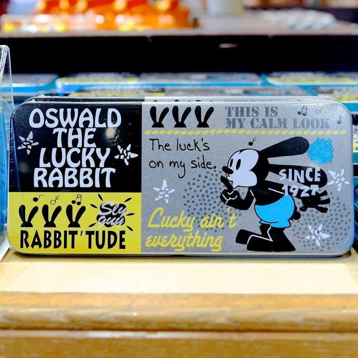 Ariel's Wish-日本東京迪士尼Disney幸運兔兔子Oswald奧斯華幸運物鐵盒收納盒鉛筆盒飾品盒子-絕版空盒