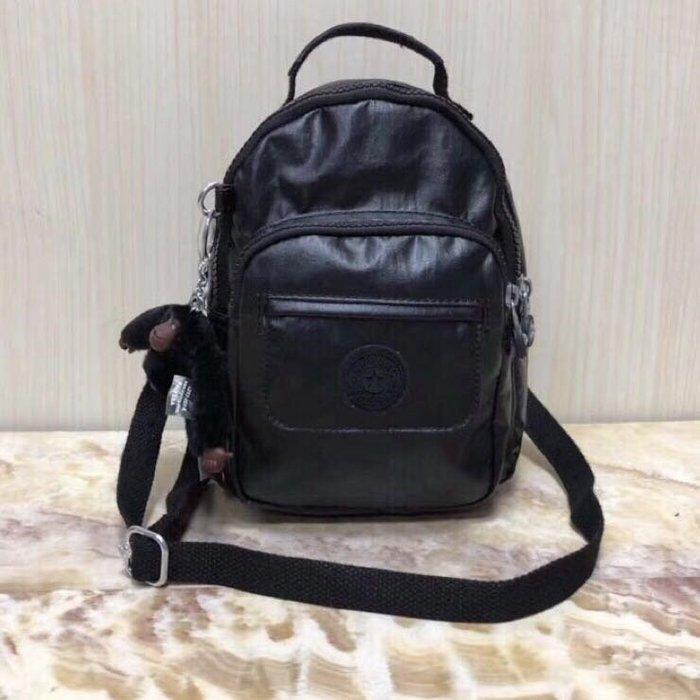 Kipling 猴子包 mini HB7349 金屬黑 多用款肩背 斜背 側背 輕量雙肩後背包 小號 防水 限時優惠