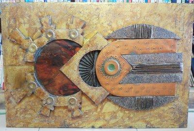 黑色小館(旗2F)~~~~~銅箔藝術品(約75X50公分)