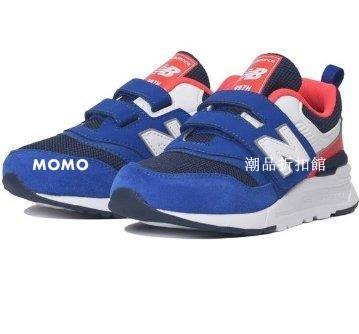 【MOMO潮品折扣館】New Balance 兒童 運動鞋 NB 997H 復古鞋 舒適 藍紅 中童 PZ997HEB W