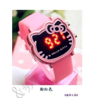 &蘋果之家&現貨-韓版時尚炫彩LED運動Hello Kitty果凍錶-附精美禮盒包裝