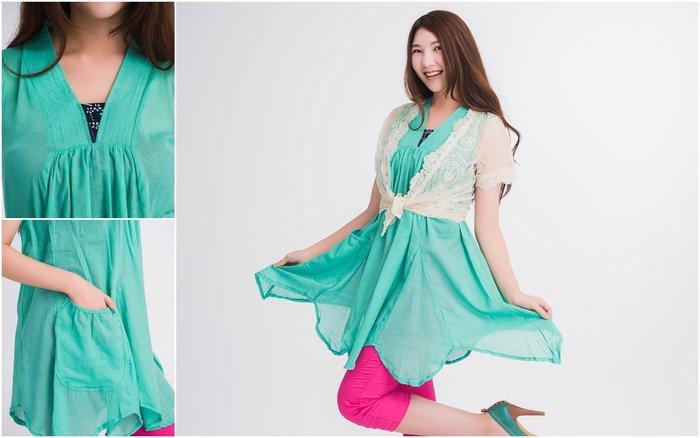 !((中國藍Anewei))自然風客家藍染純棉麻翠綠無袖洋裝/長衫~F3~另有藍 灰 黃 米白