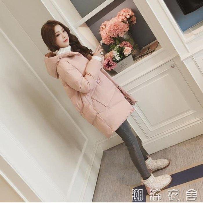 冬季外套棉服女韓版寬鬆學生棉衣中長款新款棉襖ins面包服潮