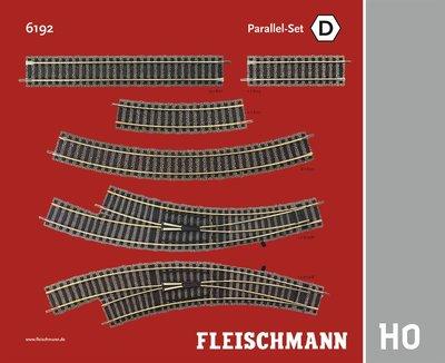 傑仲 博蘭 FLEISCHMANN 鐵軌零件 Track Pack – Parallel Set D 6192 HO