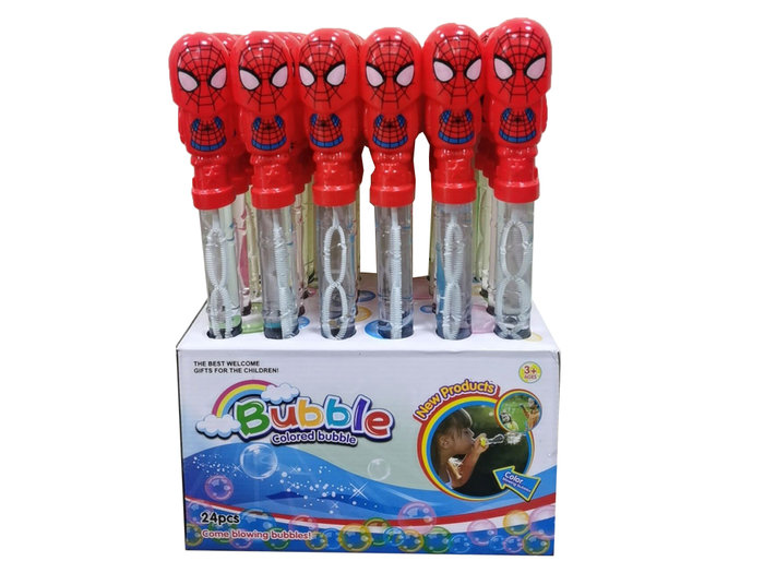 佳佳玩具 ----- 蜘蛛俠 蜘蛛人 復仇者聯盟 泡泡棒 泡泡水 吹泡泡 24入 整盒【293814】