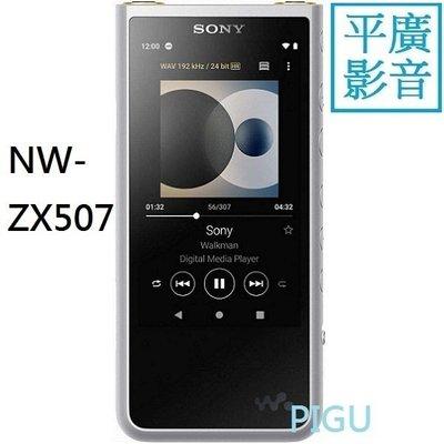 平廣 送電源袋繞 SONY NW-ZX507 銀色 MP3 隨身聽 台灣公司貨保18月 4.4LDAC藍芽 另售PR2