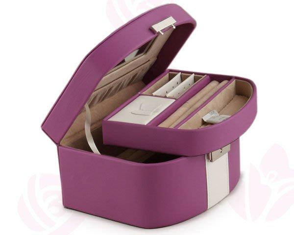 5Cgo【鴿樓】會員有優惠 16501744791 首飾盒 公主歐式飾品盒韓式 皮化妝盒戒指盒 收納箱 珠寶盒