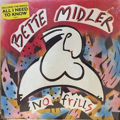 §小宋唱片§ 美版/Bette Midler – No Frills/二手西洋黑膠