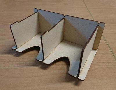 大安殿實體店面 兩格式木製牌架 桌遊 周邊配件 桌遊周邊