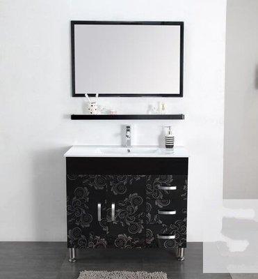 【益華衛浴華科】抽屜落地式浴室櫃組合 不銹鋼洗手盆衛生間洗漱臺浴櫃 XL1107-08