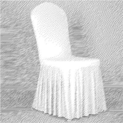 居家家飾設計 百摺裙-彈性椅套-白(四面彈)-適用各種無扶手椅型 *免套腳* 清洗方便可烘乾 免熨燙超方便