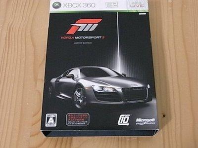 【小蕙生活館】XB360 ~ Forza Motorsport3 極限競速3 ~ 限定版 (純日版)