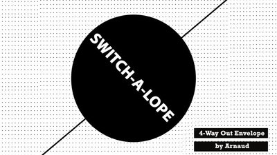 [魔術魂道具Shop]信封四重奏~~SWITCH-A-LOPE by Arnaud Van Rietschoten