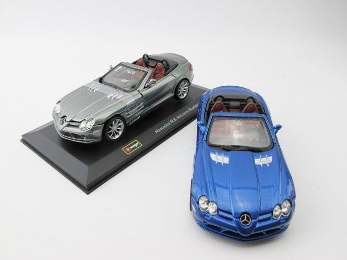【阿LIN】42000A 1/32街霸 Mercedes SLR McLaren Roadster 合金車玩具 銀 藍