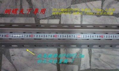 網螺天下※鍍鋅角鋼、沖孔角鐵40*40*2.5mm『雙』孔,孔洞示意圖-7~8圖