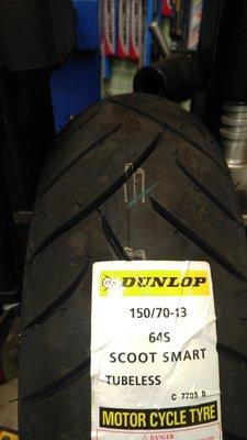 登陸普 聰明胎 DUNLOP SCOOT SMART 150/70-13 馬克車業聰明胎  優惠價2700 歡迎安裝