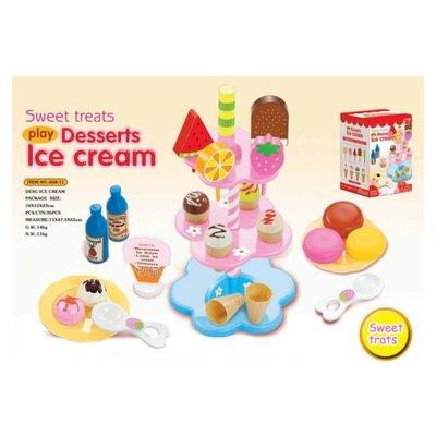✿荳荳小舖✿扮家家酒廚房.冰淇淋雪糕販售攤補充支架.食物架.下午茶點心架.冰淇淋架