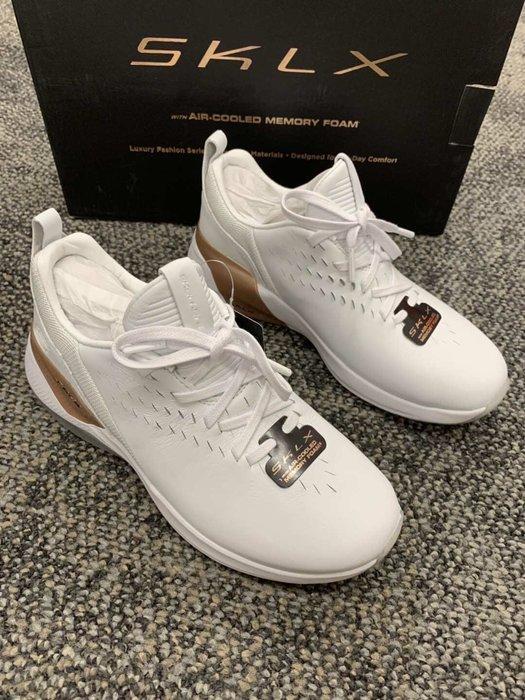 安安精品保證正品~SKECHERS MODENA - ACAPELLA 13238WTRG 奢侈時裝系列優質皮革記憶鞋墊