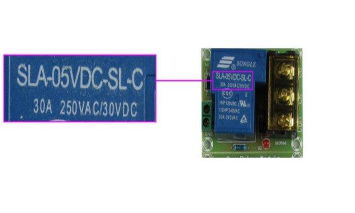 DC5V輸入 轉AC DC 30A大電流繼電器輸出轉接板