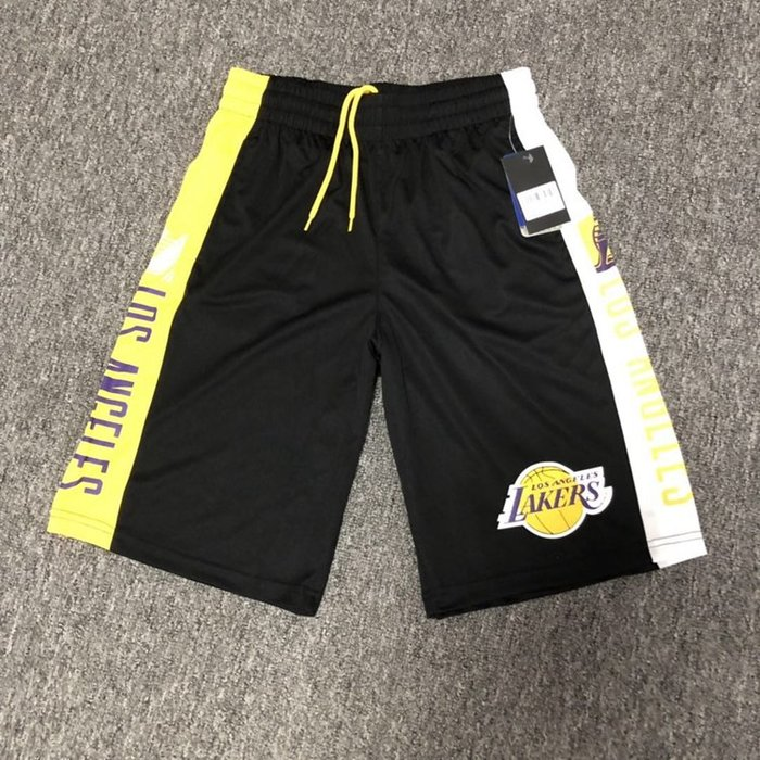 NBA籃球短褲 洛杉磯湖人隊 KOBE LEBRON 口袋版 運動籃球褲 正版