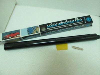 Solar Window Film -Super Dark Black (有鏡面處理的)超深黑色/50* 300cm汽車