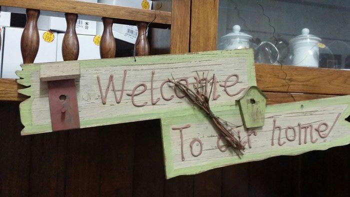 美生活館 鄉村風 木製品刷舊 家庭門牌 掛牌 掛畫