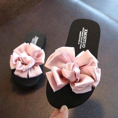 哆啦本鋪 公主兒童拖鞋女夏季外穿一字拖防滑女童親子鞋可愛花朵沙灘鞋涼拖 D655