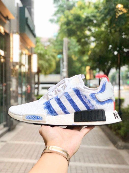 【Cheers】 Adidas Original NMD R1 白藍 渲染 白色 藍白 限量 女鞋 G27950