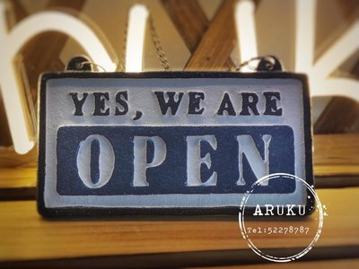 全新 日本 YES, WE ARE OPEN門牌