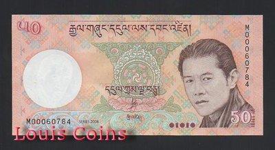 【Louis Coins】B722-BHUTAN--2008不丹紙幣50 Ngultrum
