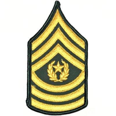 美軍公發 ARMY 陸軍 E-9 Command sergeant major 階級臂章 全新