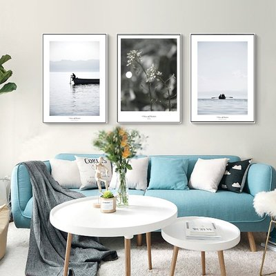 ins北歐自然風景海景裝飾畫畫心畫布進口噴繪(5款可選)