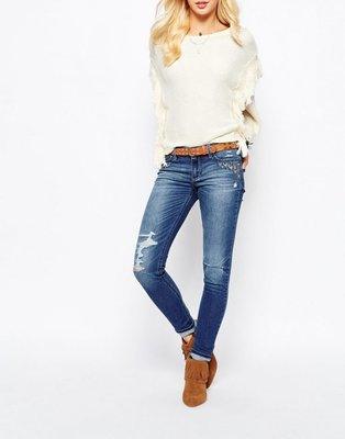 全新正品賠售Hollister Super Skinny Jeans Embroidery 尺寸0R