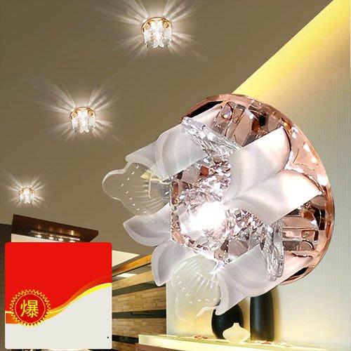 5Cgo【燈藝師】含稅會員有優惠14540994778 現代時尚簡約水晶燈過道燈走廊燈天花燈led吸頂燈玄關燈筒燈106