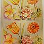 ~ 大拼貼藝術紙 玫瑰, 雞蛋花, 太陽花 (50*70...