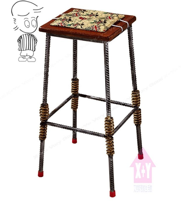 【X+Y時尚精品傢俱】現代吧檯椅系列-伍德 鋼筋木面吧台椅.高腳椅.適合餐廳. 工作椅使用..摩登家具