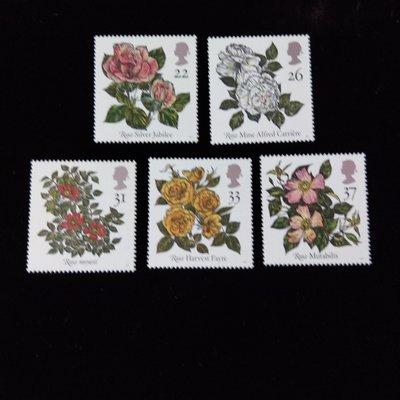 【大三元】歐洲郵票-大英國協郵票-花-新票5全1套-原膠上品
