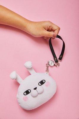 【UNIPRO】YOSISTAMP 兔兔 兔子頭型 手拿 拉扣 伸縮 票卡套 零錢包 萬用包